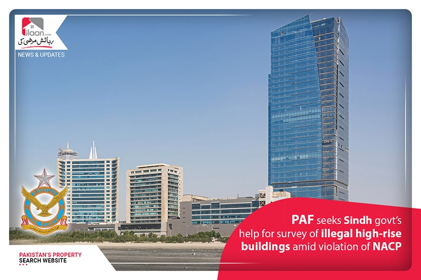PAF seeks Sindh govt's help for survey of illegal high-rise buildings amid violation of NACP