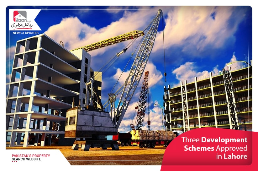 Three Development Schemes Approved in Lahore
