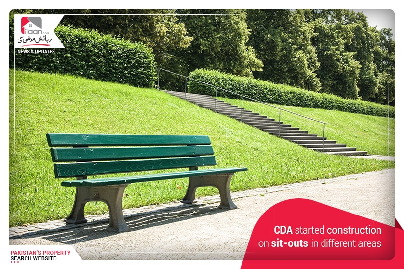 CDA started construction on sit-outs in different areas