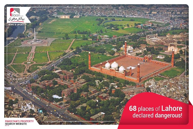 68 places of Lahore declared dangerous!
