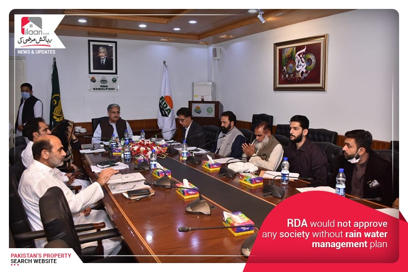 RDA would not approve any society without rain water management plan