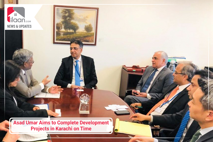 Asad Umar Aims to Complete Development Projects in Karachi on Time