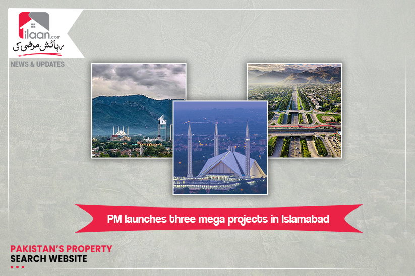 PM launches three mega projects in Islamabad