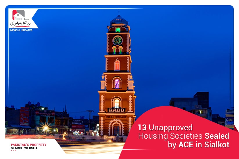 13 Unapproved Housing Societies Sealed by ACE