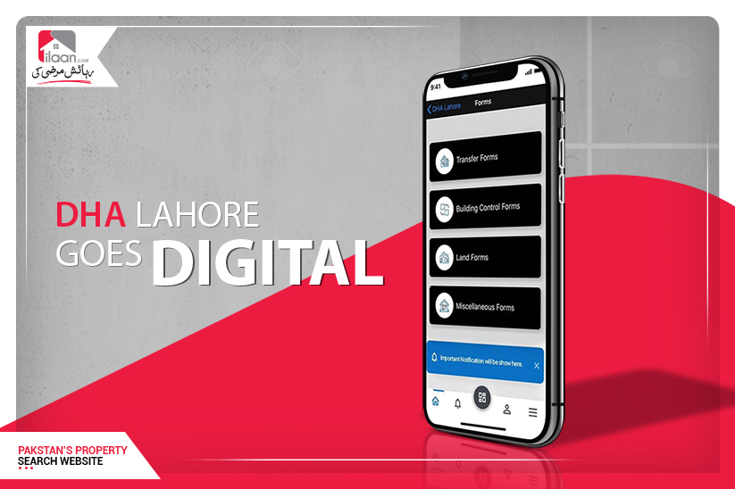 Important forms available on DHA Lahore mobile app