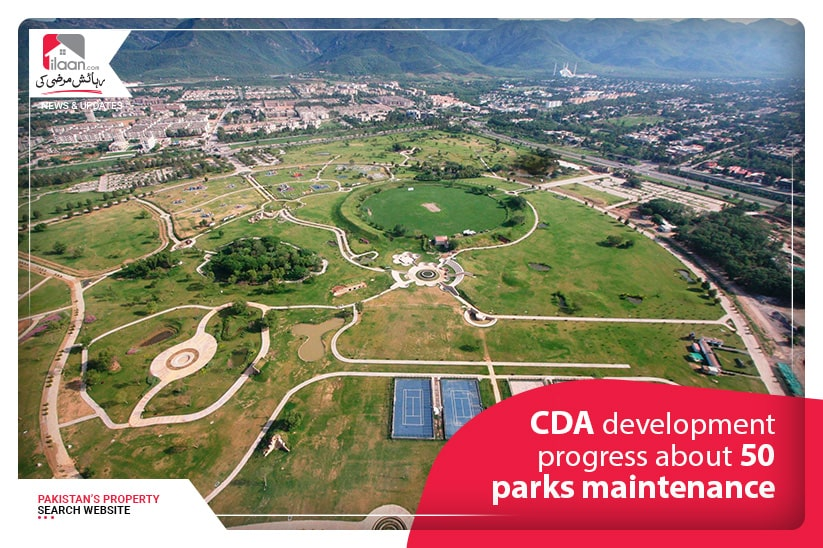 CDA development progress about 50 parks maintenance