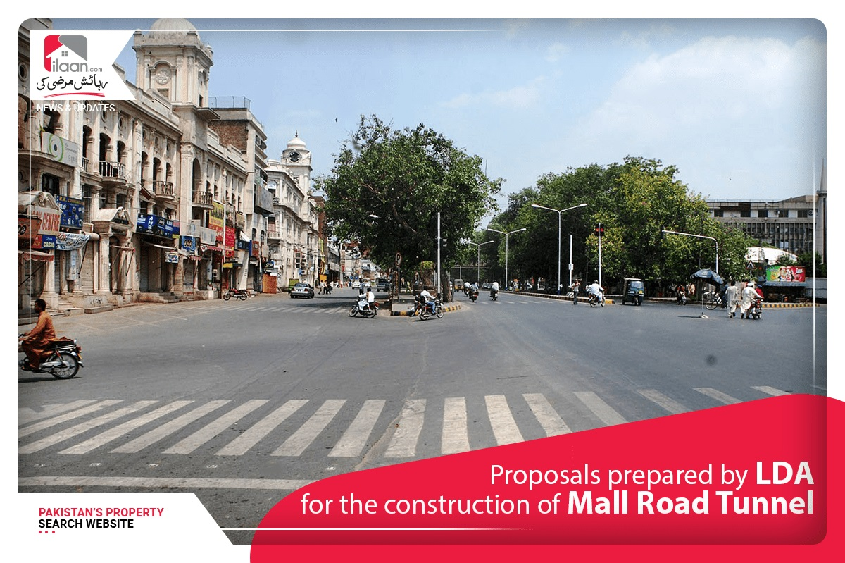 Proposals prepared by LDA for the construction of Mall Road Tunnel