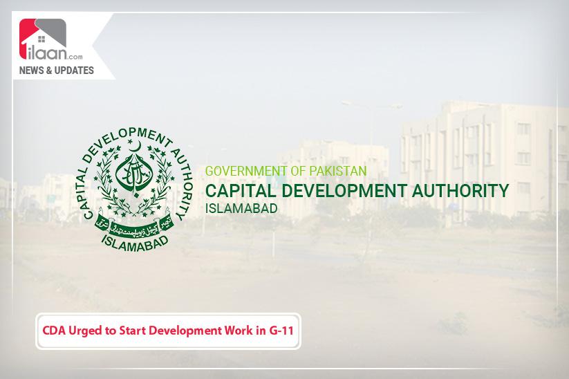 CDA Urged to Start Development Work in G-11 Immediately