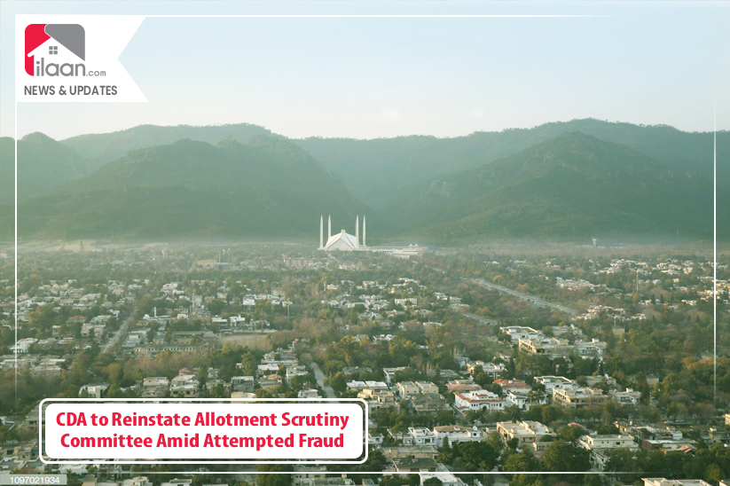 CDA to Reinstate Allotment Scrutiny Committee Amid Attempted Fraud