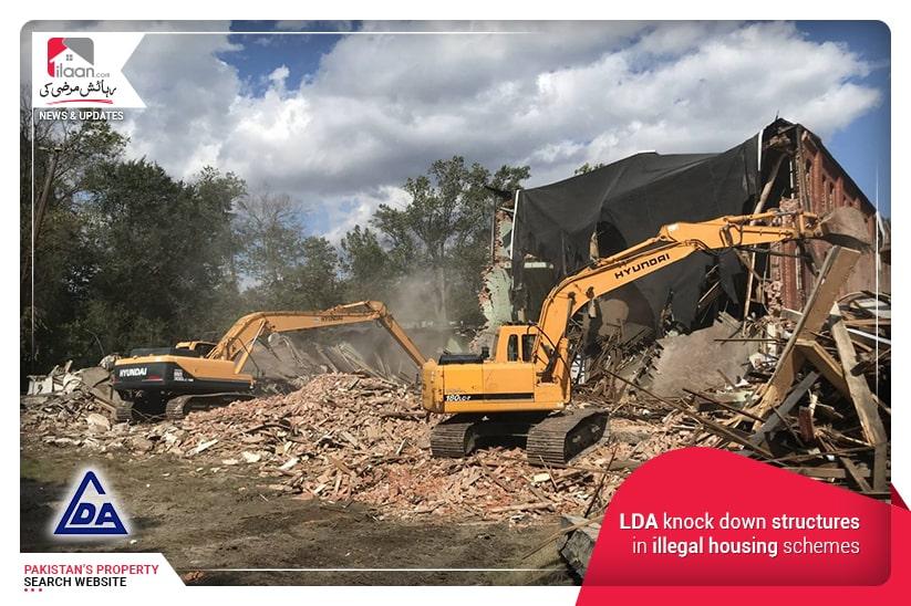 LDA knock down structures in illegal housing schemes