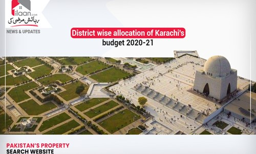 District wise allocation of Karachi's 2020-21 budget