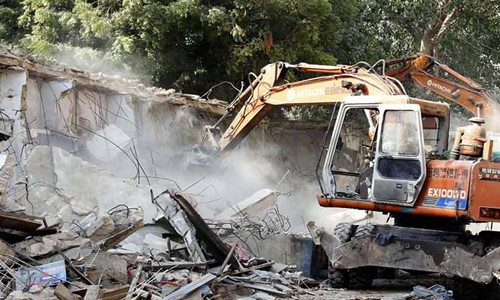 Nearly 100 Houses Demolished as an Act of Encroachment for Circular Railway Project