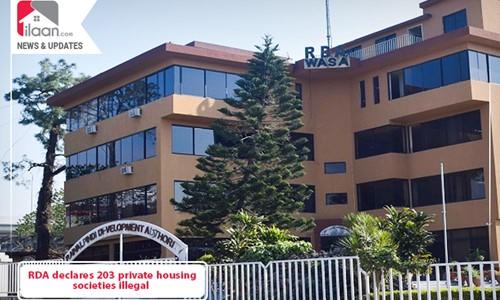 RDA declares 203 private housing societies illegal