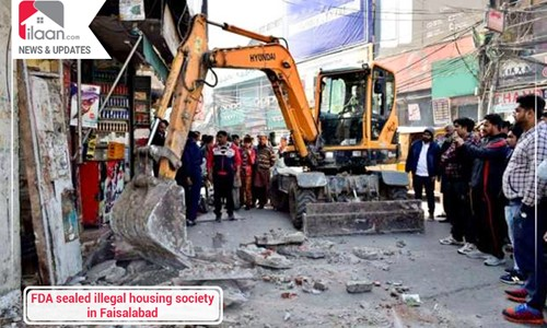 FDA sealed illegal housing society in Faisalabad