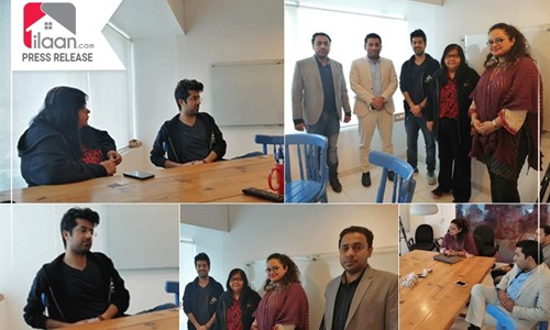 CEO ilaan.com Mian Omer met Founder Nest I/O Jehan Ara for Future Collaborations