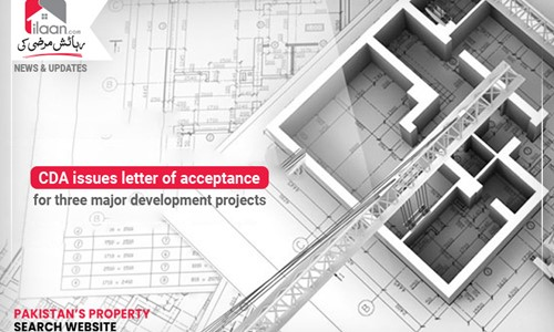 CDA issues letter of acceptance for three major development projects