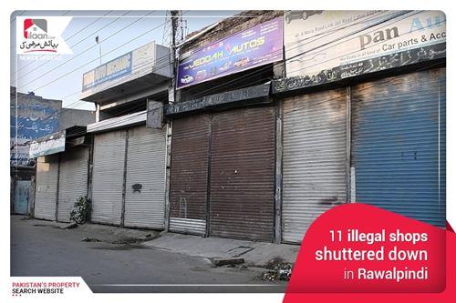 11 illegal Shops Shuttered Down in Rawalpindi