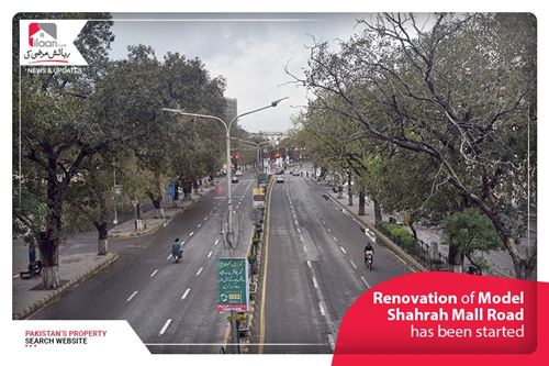 Renovation of Model Shahrah Mall Road has been started