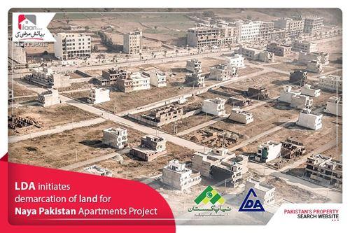 LDA initiates demarcation of land for Naya Pakistan Apartments Project