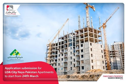 Application submission for LDA City Naya Pakistan Apartments to start from 24 March