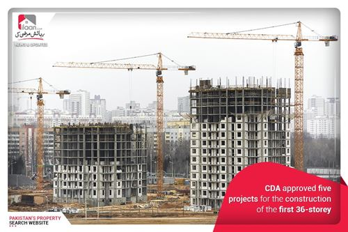 CDA Approved Five Projects for the Construction of the first 36-Storey