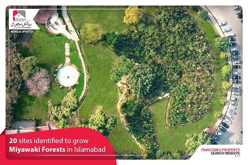 20 sites identified to grow Miyawaki Forests in Islamabad