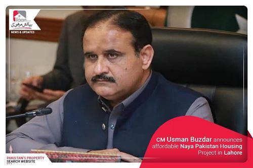 CM Usman Buzdar announces affordable Naya Pakistan Housing Project in Lahore