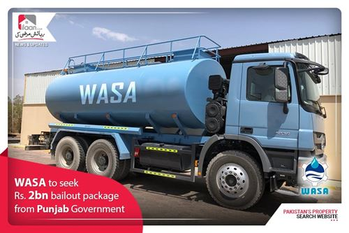 WASA to seek Rs. 2bn bailout package from Punjab Government
