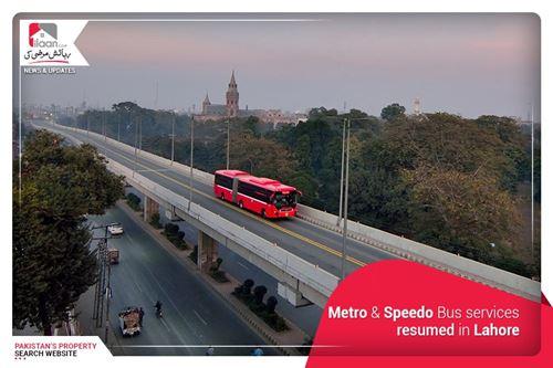 Metro & Speedo Bus services resumed in Lahore