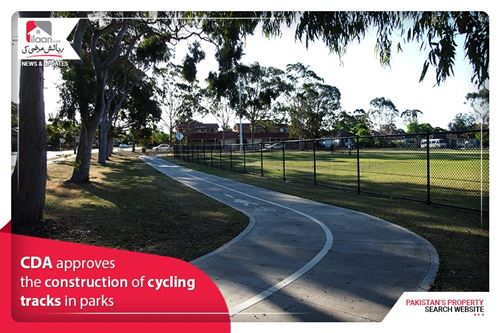 CDA approves the construction of cycling tracks in parks