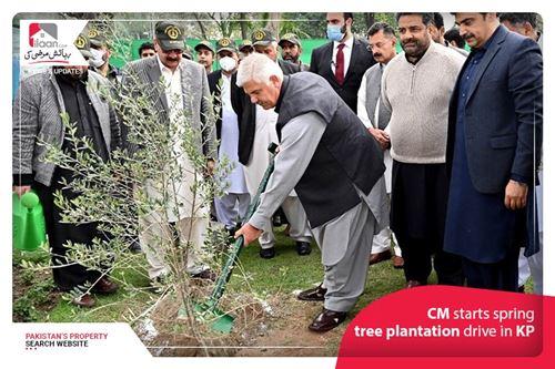 CM starts spring tree plantation drive in KP