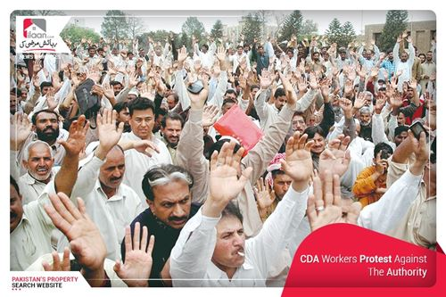 CDA Workers` Protest Against the Authority