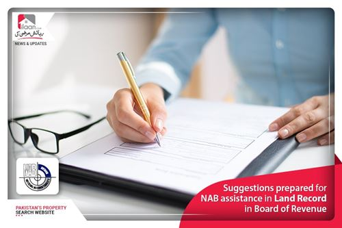 Suggestions prepared for NAB assistance in Land Record in Board of Revenue