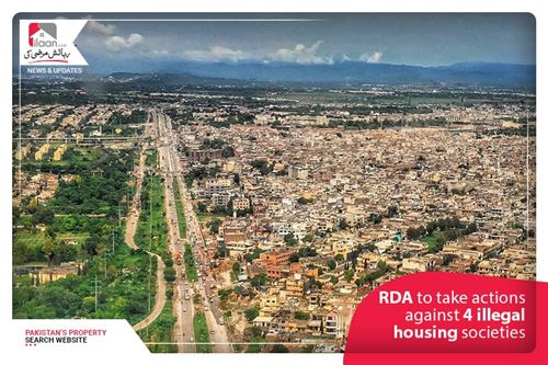 RDA to take actions against 4 illegal housing societies