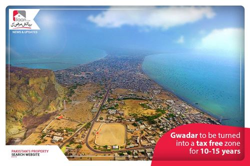 Gwadar to be turned into a tax-free zone for 10-15 years