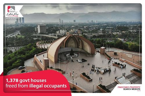 1,378 govt houses freed from illegal occupants