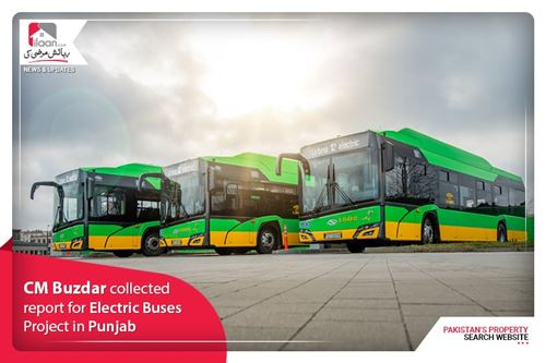 CM Buzdar collected report for Electric Buses Project in Punjab