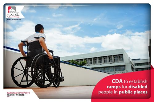 CDA to establish ramps for disable people in public parks