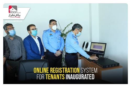 Online registration system for tenants inaugurated