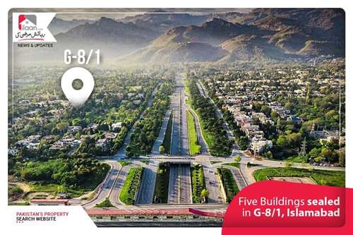 Five Buildings sealed in G-8/1, Islamabad