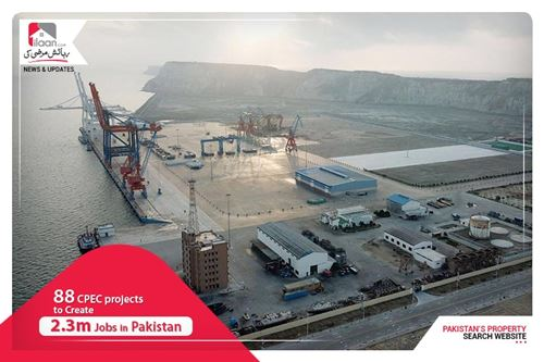 88 CPEC projects to create 2.3m jobs in Pakistan