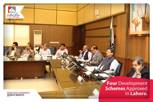 Four Development Schemes Approved in Lahore