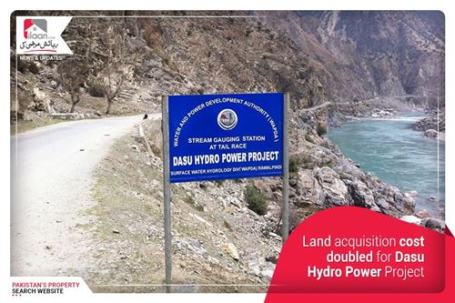 Land acquisition cost doubled for Dasu Hydro Power Project