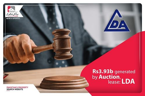 Rs3.93b generated by auction, lease: LDA