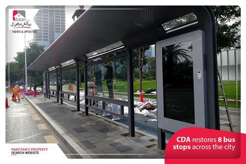 CDA restores 8 bus stops across the city