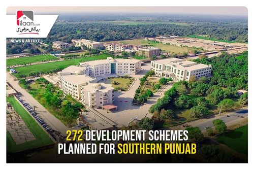 272 development schemes planned for Southern Punjab