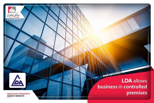 LDA allows business in controlled premises