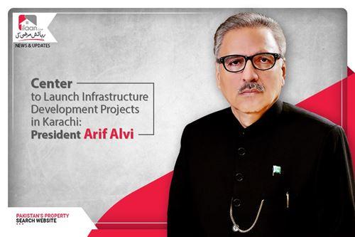 Center to launch infrastructure development projects in Karachi: President Arif Alvi