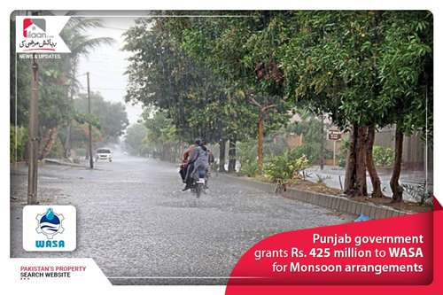 Punjab government grants Rs. 425 million to WASA for Monsoon arrangements
