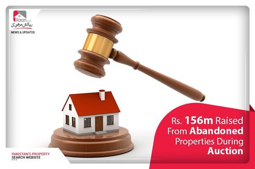 Rs. 156m raised from abandoned properties during auction